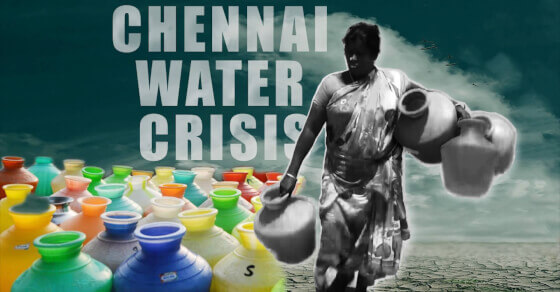 Chennai: water, water everywhere not a drop to drink!