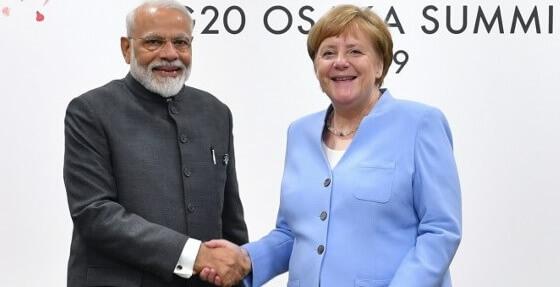 Watch: Merkel's epic reaction during meeting with Modi