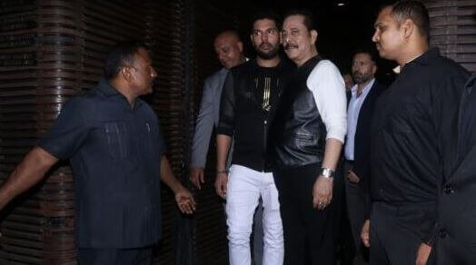 Yuvraj Singh hosts retirement party