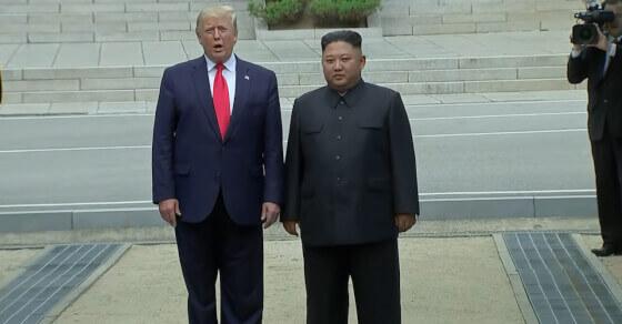 Historic step: Trump crosses line, steps into N Korea