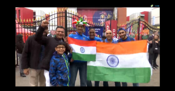Indian fans turn Manchester blue!