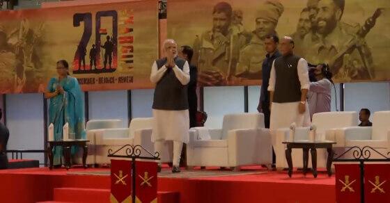 युद्ध सरकारें नहीं पूरा देश लड़ता है: करगिल विजय दिवस समारोह में PM