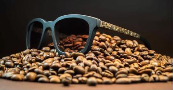 These sunglasses are made from coffee waste