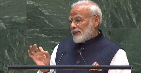 At UN, PM Modi outlines India's green mission