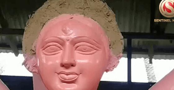 Watch Durga Puja Preparations from Sivasagar's Amguri