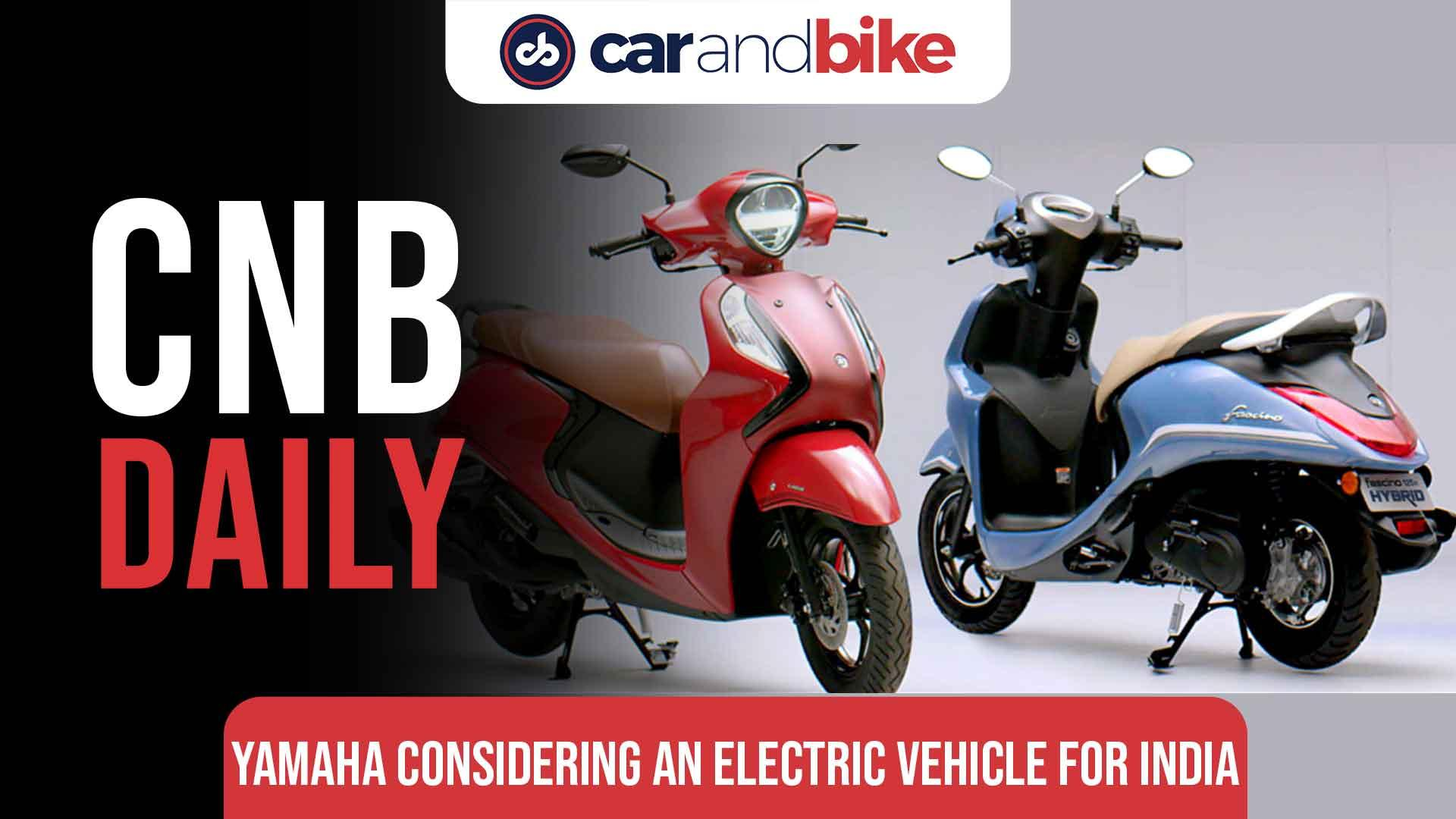 Yamaha considering an electric vehicle for India