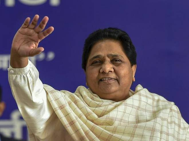 Maya's threat after BSP candidate joins Cong in MP