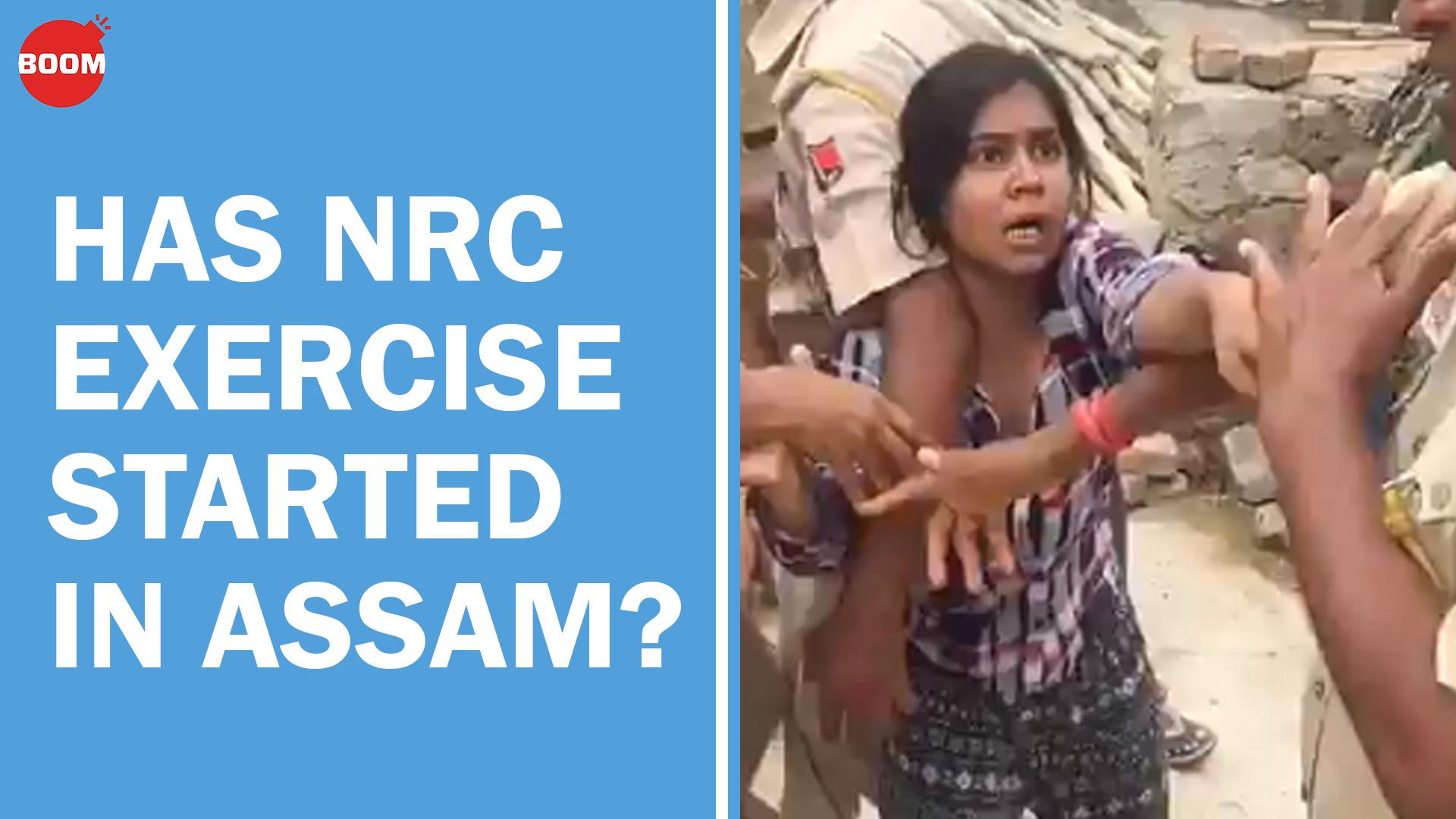 Has NRC exercise started in Assam?