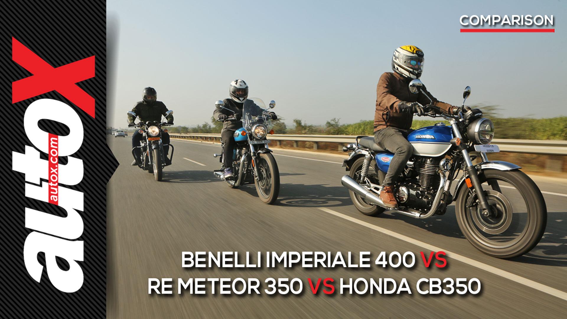Benelli Imperiale vs RE Meteor 350 vs Honda CB350 Comparison | autoX