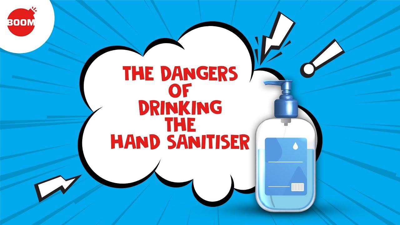 The Dangers Of Drinking Hand Sanitiser | BOOM | Hand Sanitizer India
