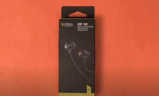 Infinity by Harman Zip 20 in-ear headphones unboxing
