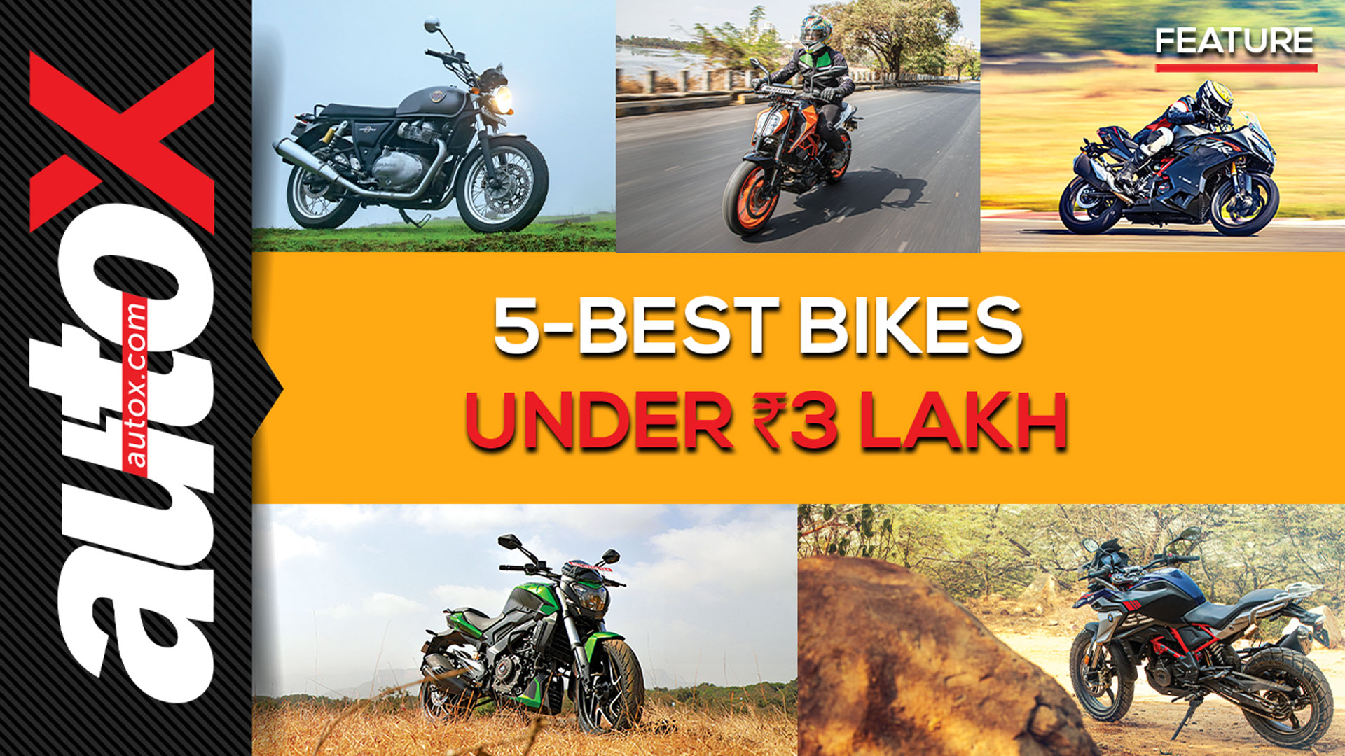 Top 5 Motorcycles Under Rs 3 Lakh | autoX