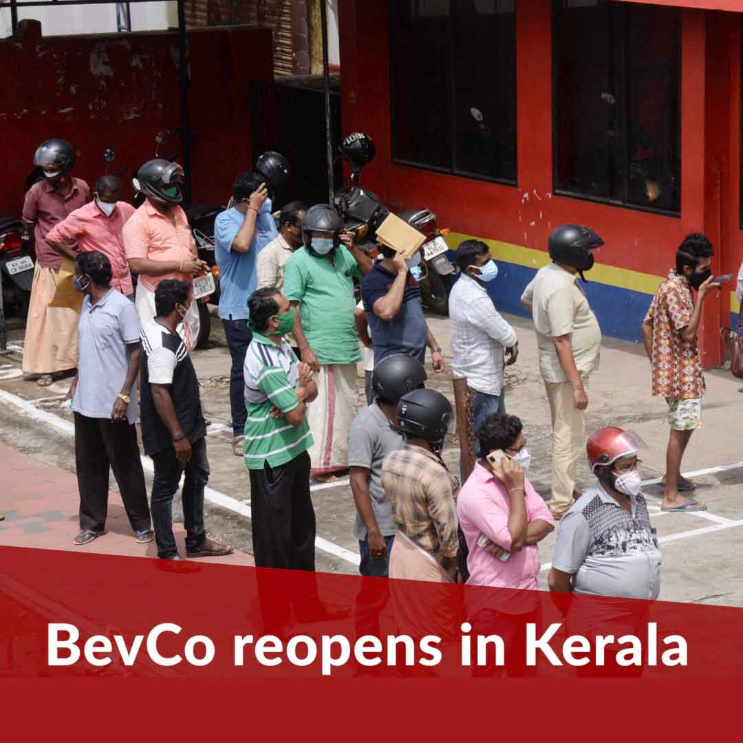 Kerala's BevCo outlets see massive crowds as they reopen after 6 weeks