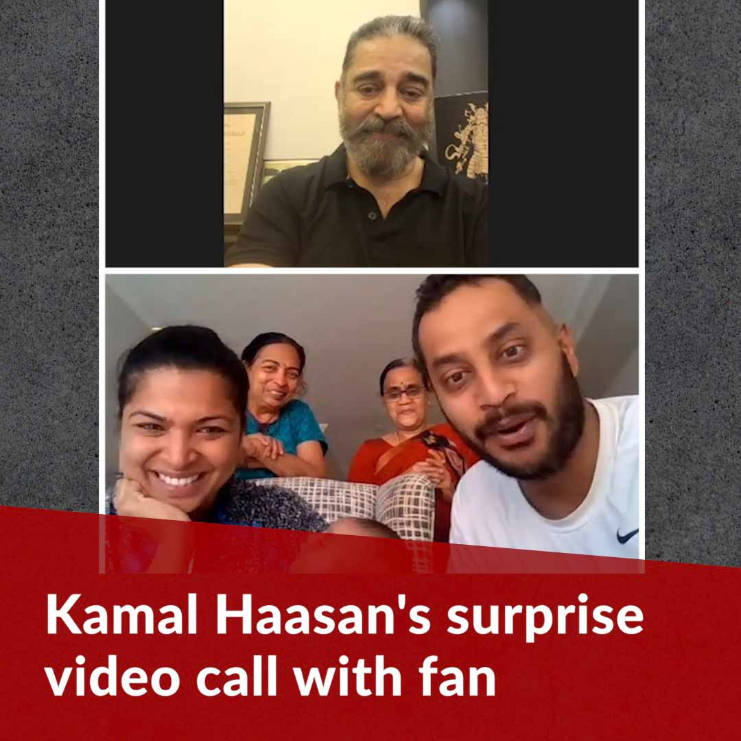 Kamal Haasan's surprise video call with fan battling brain cancer goes viral