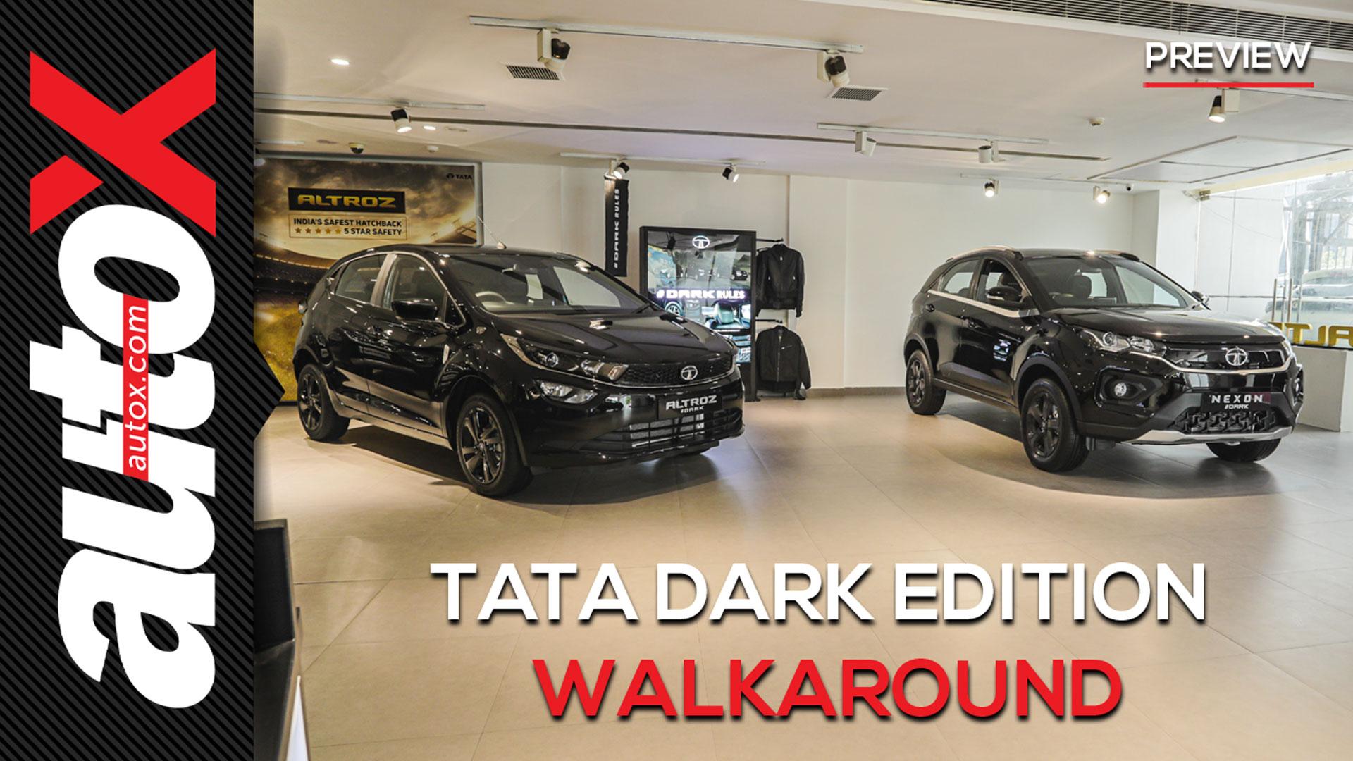 Tata Dark Editions: The ultimate design masterclass in Black! | Walkaround | autoX