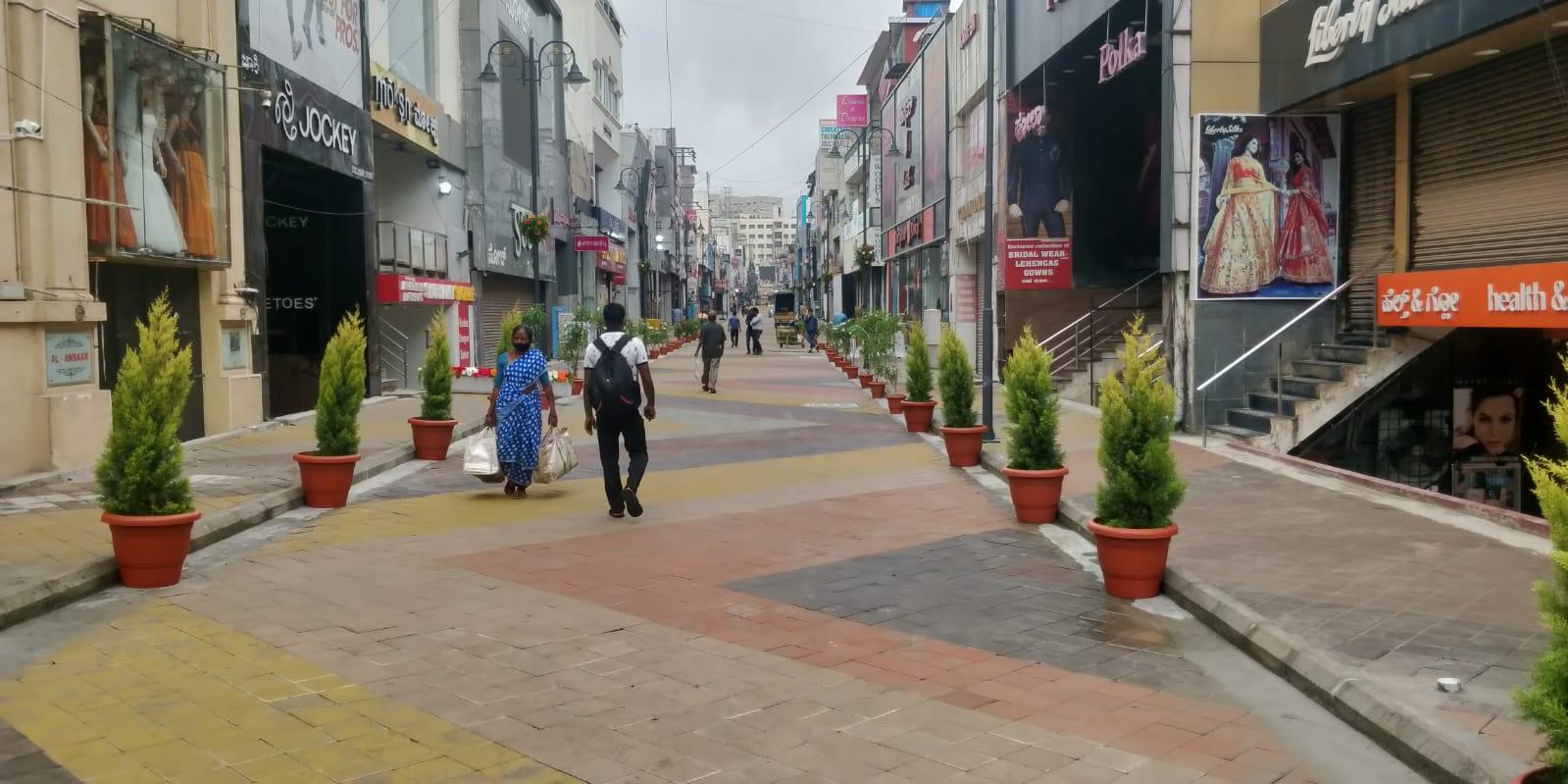 Bengaluru's Commercial Street gets cobblestone makeover