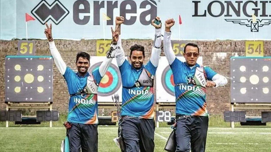 भारत की मेंस आर्चरी टीम ने कजाकिस्तान को हराकर कियाक्वार्टर फाइनल में प्रवेश