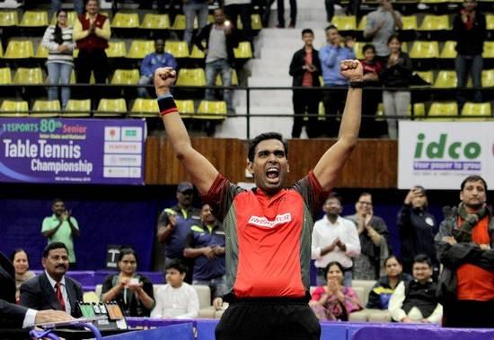 पुरुष एकल टेबल टेनिस प्रतियोगिता में क्वार्टर फाइनल में पहुंचा भारत, शरत कमल जीते