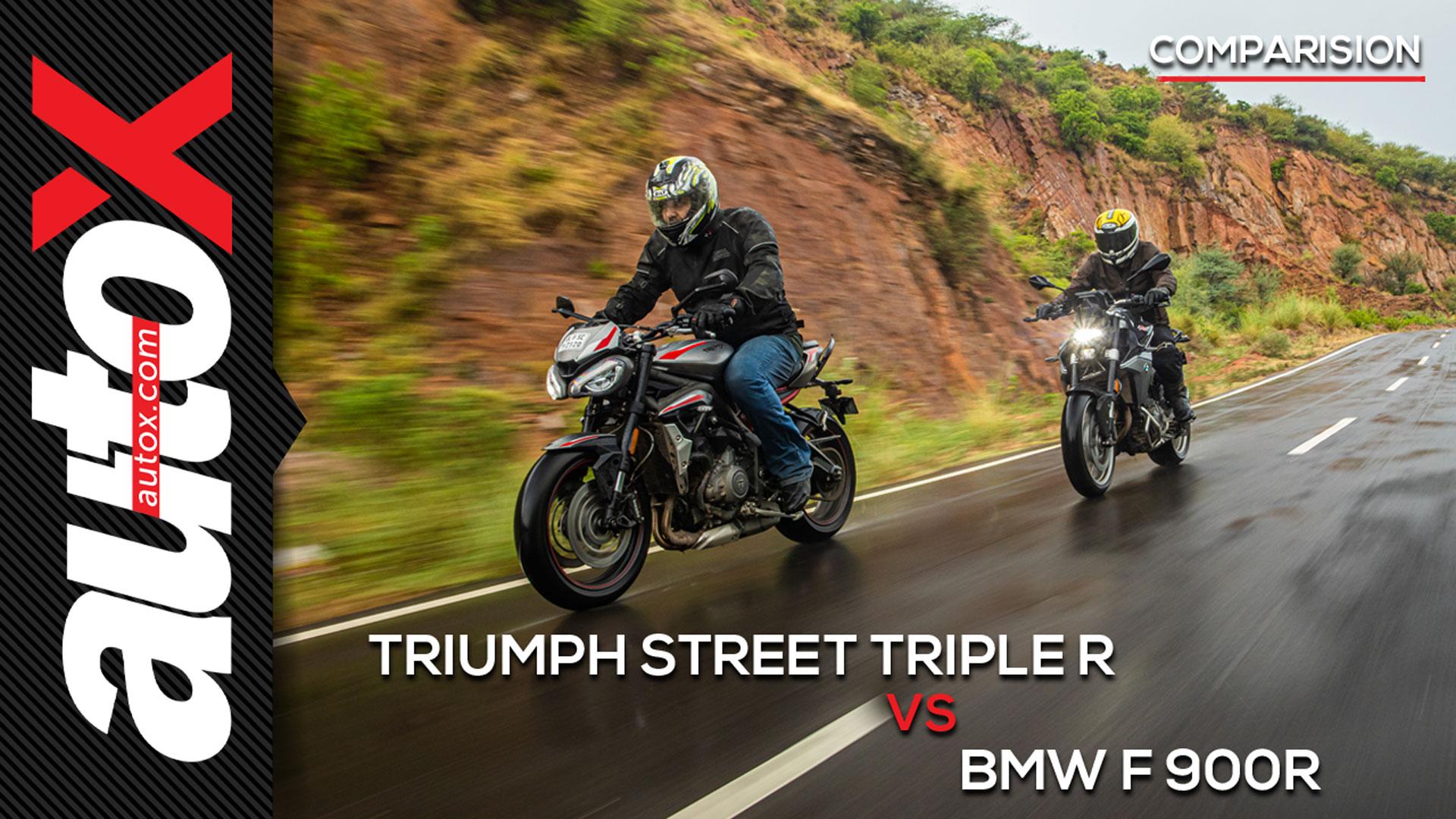 BMW F 900 R Vs Triumph Street Triple R: The Best Mid-Segment Bikes   Comparison   autoX