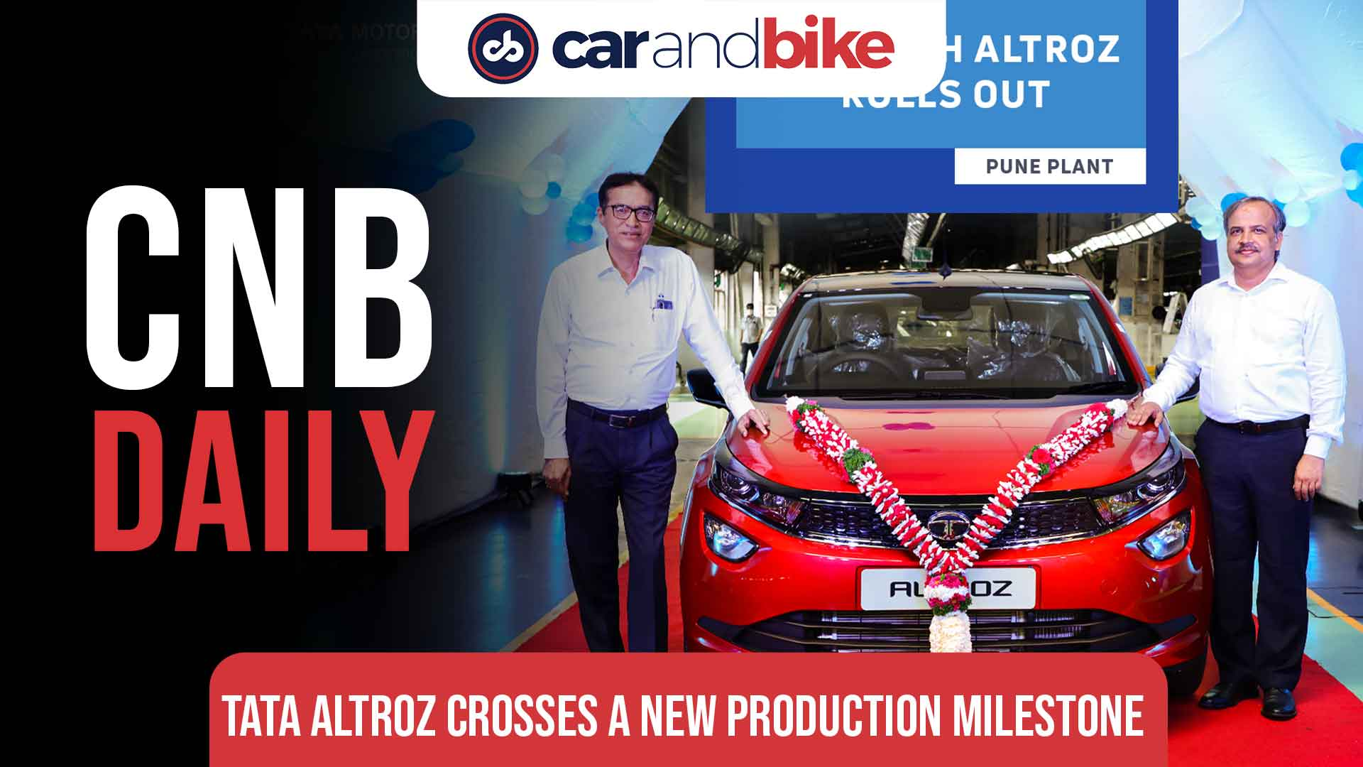 100,000 units manufactured of Tata Altroz in 20 months since launch