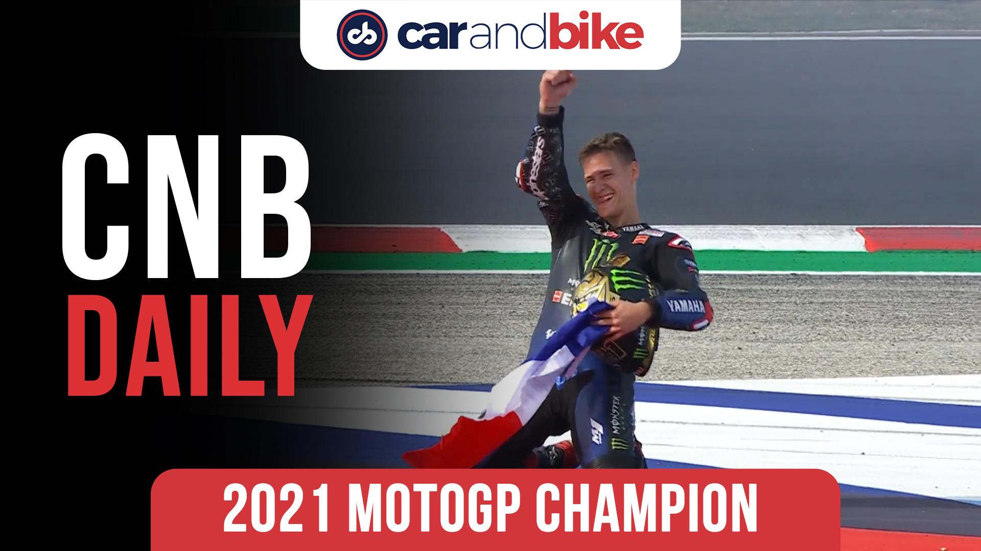 Fabio Quartararo Crowned 2021 MotoGP Champion