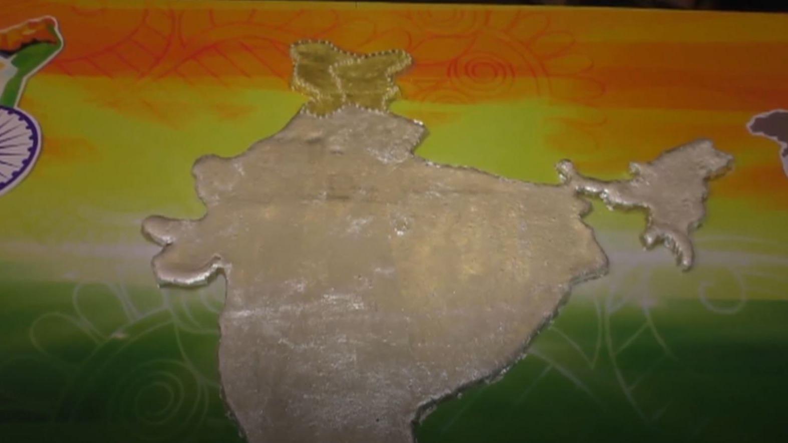 आप भी चखेंगे भारत के नक्शे वाली स्पेशल मिठाई?