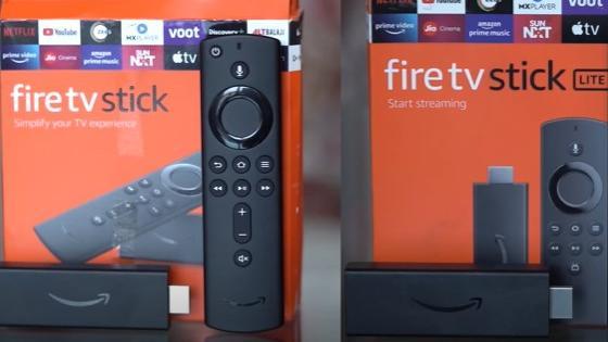 Amazon fire TV stick (3rd gen) vs Amazon fire TV stick lite
