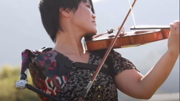 Playing violin with one hand, why this Japanese Paralympian is winning hearts