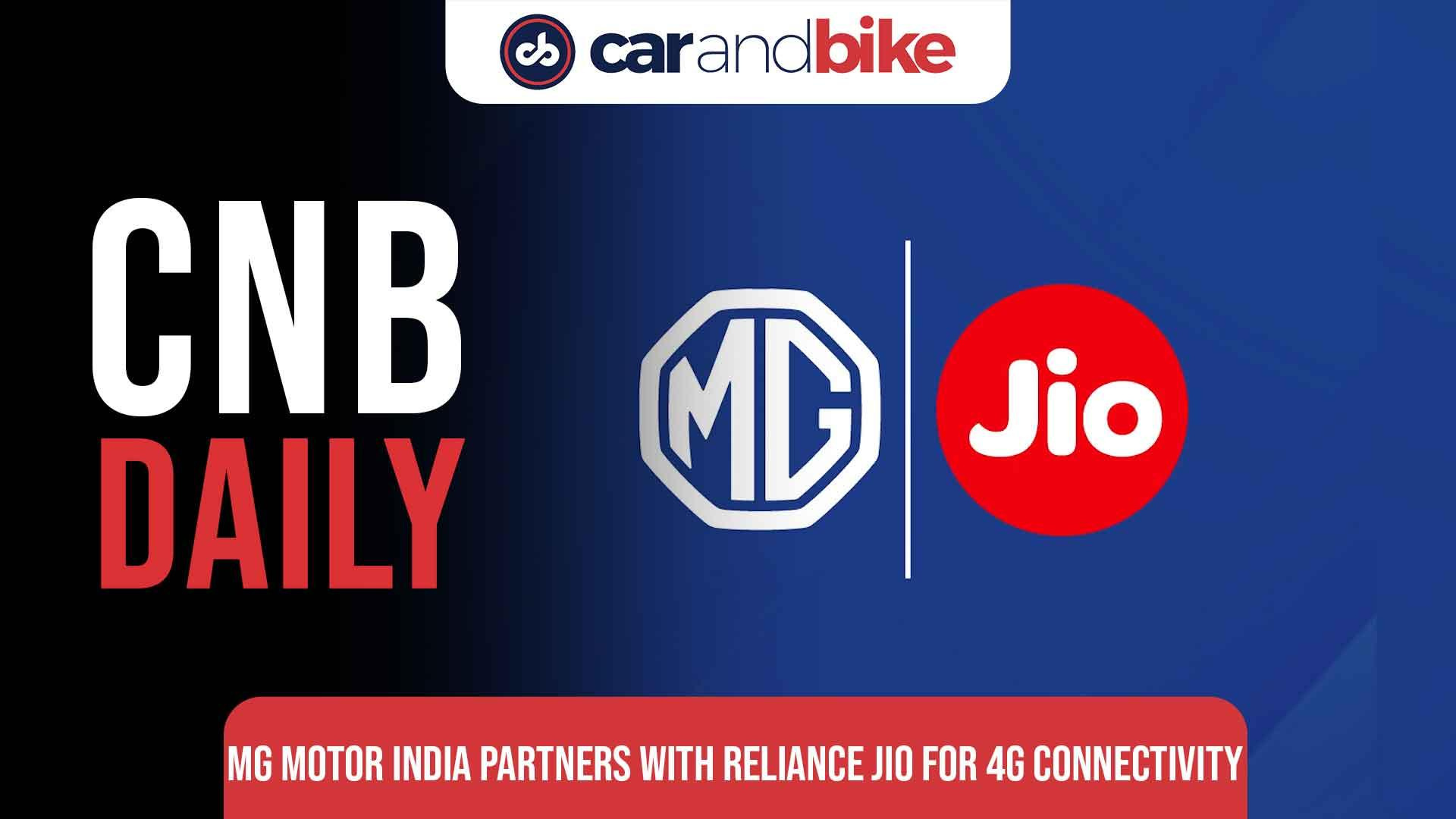 MG Motor India Partners With Reliance Jio