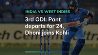 Ind vs West Indies: Pant out, Dhoni joins Kohli