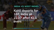 Ind vs West Indies: Kohli out India at 222/7