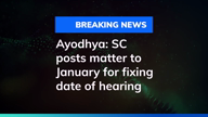 Ayodhya: SC posts matter to January for fixing date of hearing