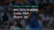 4th ODI: India 56/0 after 10 overs