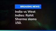 India vs West Indies: Rohit Sharma slams 150, India at 304
