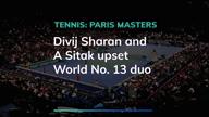 Paris Masters: Divij Sharan/Artem Sitak upset World No. 13