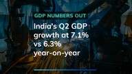 #Breaking: GDP growth drops to 7.1% in the second quarter