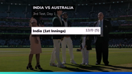 3rd Test: India 13/0 after 5 overs