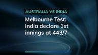 MCG Test: India declare 1st innings in command