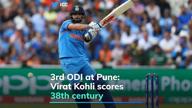 Kohli 1st Indian to score hat-trick of ODI hundreds
