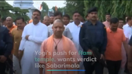 Yogi's push for Ram temple, wants Sabarimala-like verdict