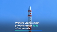 China's first private rocket fails after launch