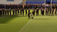 Leicester City owner's family leads tributes at club's stadium