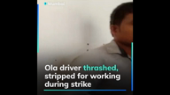 Watch: Ola driver thrashed, stripped in Mumbai for working during strike