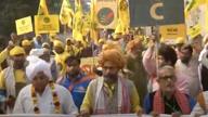 Farmers knock on Capital's door