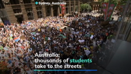 Australian students take to the streets to combat climate change