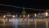Moscow's ice-skating rink opens with a 'Beauty and the Beast' performance