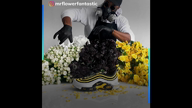 Mr. Flower Fantastic recreates sneakers into floral bouquets