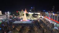 Christmas carols in Bethlehem's Manger Square