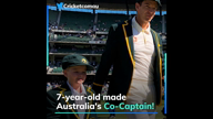 Watch! 7-year-old made Australia's Co-Captain!