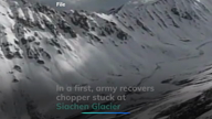 In a first, army recovers chopper stuck at Siachen Glacier